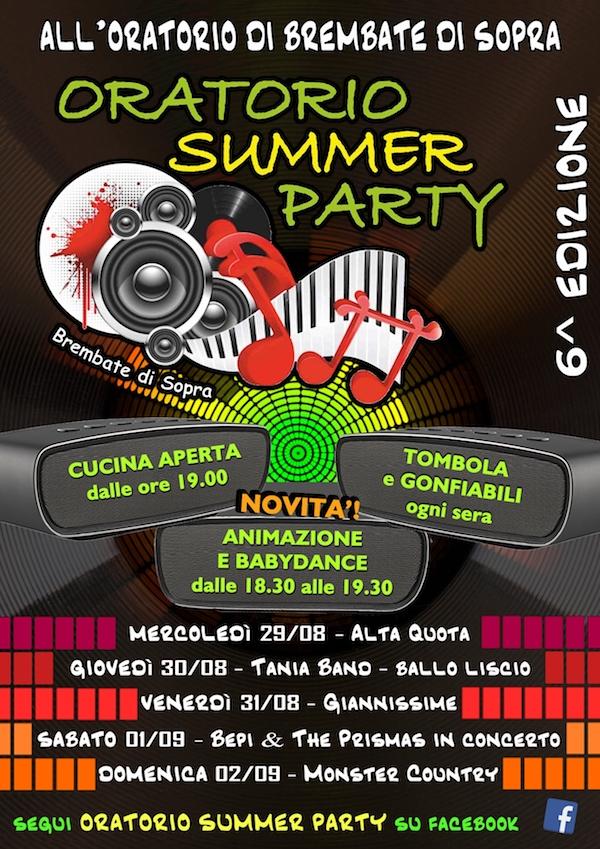 ORATORIO SUMMER PARTY 2018